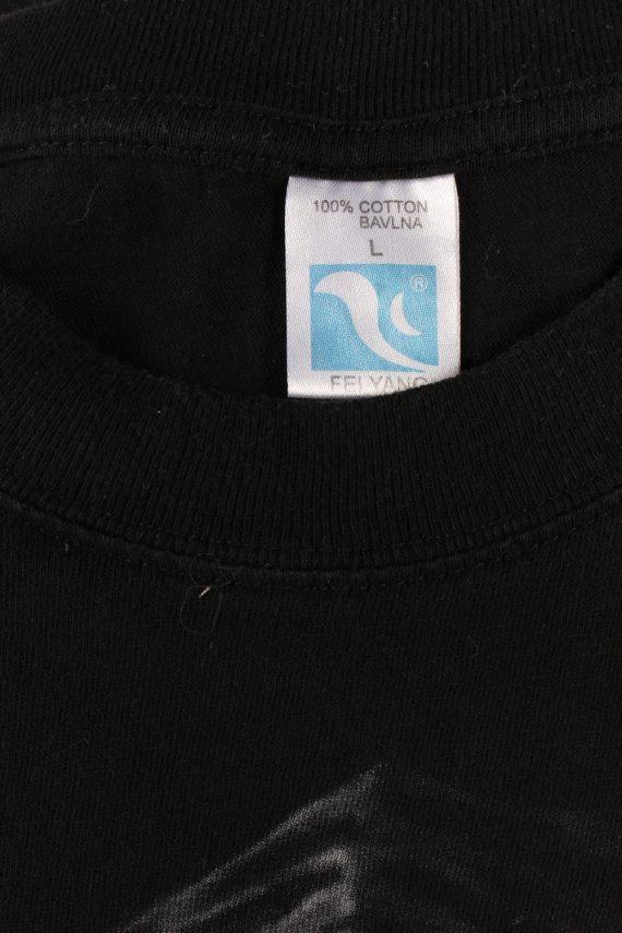 Vintage Fei Yang Game Over T-Shirt L Black TS359-109581