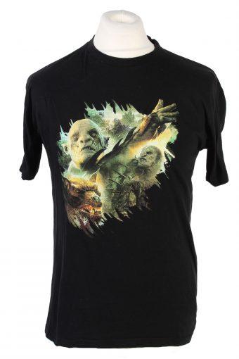 Men T-Shirt 90s Retro Shirt Black S