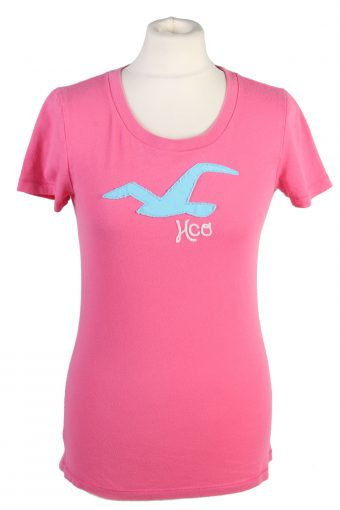 Hollister T-Shirt 90s Retro Shirt Pink L