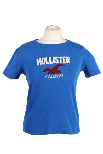 Women T-Shirt 90s Retro Shirt Blue M