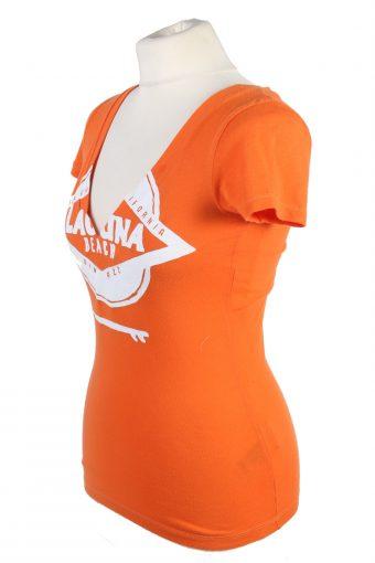 Vintage Hollister T-Shirt XS Orange TS382-109667