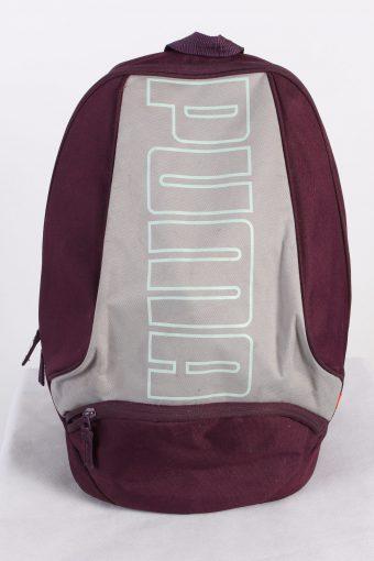 Vintage Puma Backpack Bag Adjustable Strap Maroon Grey
