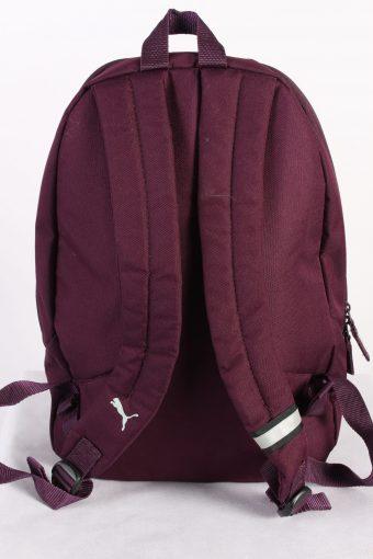 Vintage Puma Backpack Bag Adjustable Strap Maroon Grey BG709-111674