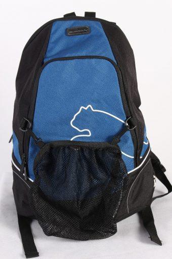 Vintage Puma Backpack Bag Unisex Sport Black Blue