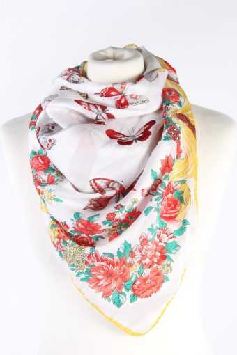 Vintage Scarf Butterfly Printed Multi Colour