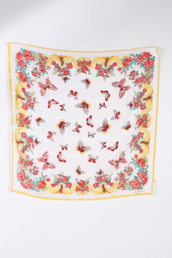 Vintage Scarf Butterfly Printed Multi Colour FL075-110729