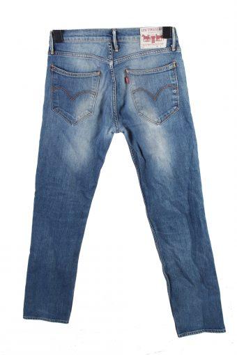 Vintage Levis Mid Waist Jeans Straight Leg 32 in. Blue Grey J4173-110195