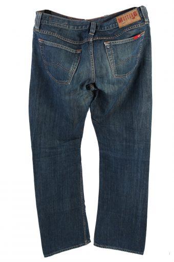 Vintage Mustang Mid Waist Jeans Boot Leg 32 in. Dark Blue J4192-110271