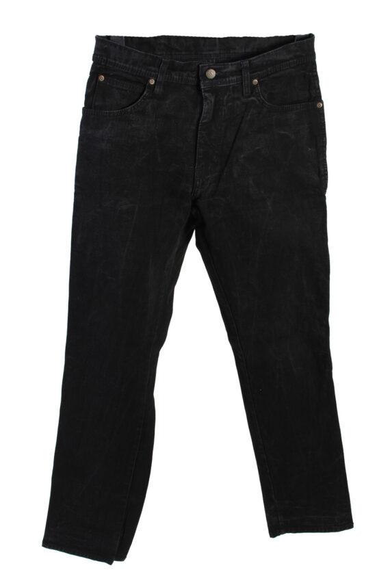 Vintage Wrangler Regular Fit Low Waist Straight Leg 32 in. Black J4208-0