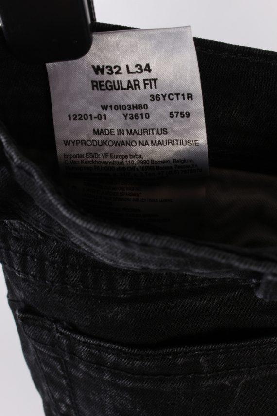 Vintage Wrangler Regular Fit Low Waist Straight Leg 32 in. Black J4208-110336