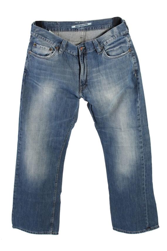 Vintage Mustang Mid Waist Identification Jeans Boot Leg 34 in. Blue J4210-0