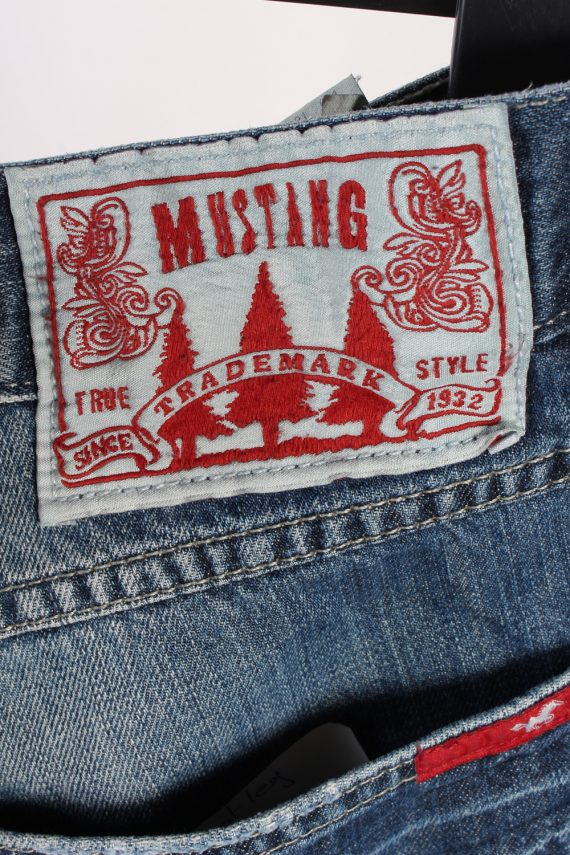 Vintage Mustang Mid Waist Identification Jeans Boot Leg 34 in. Blue J4210-110343