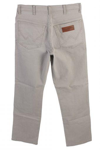 Vintage Wrangler Texas Stretch Mid Waist Straight Leg 30 in. Light Grey J4211-110442