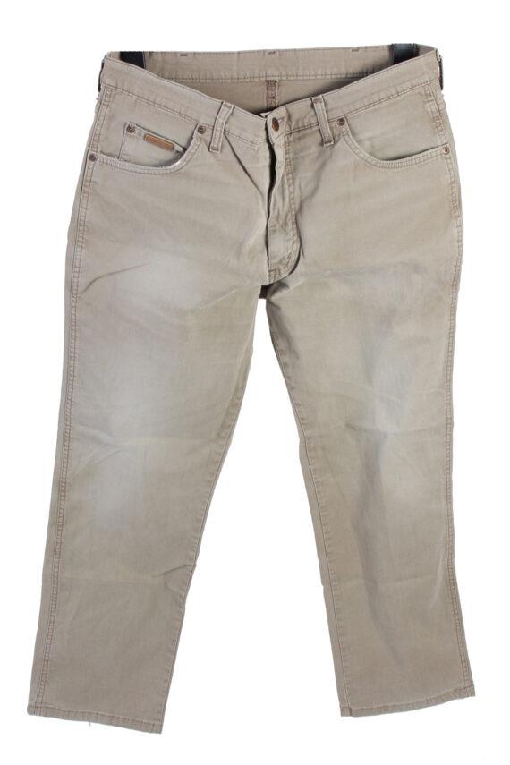 Vintage Wrangler Mid Waist Jeans Straight Leg 36 in. Light Grey J4212-0