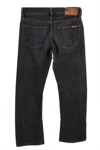 Vintage Mustang Men Boot Leg Jeans Mid Waist 28 in. Black J4213-110450