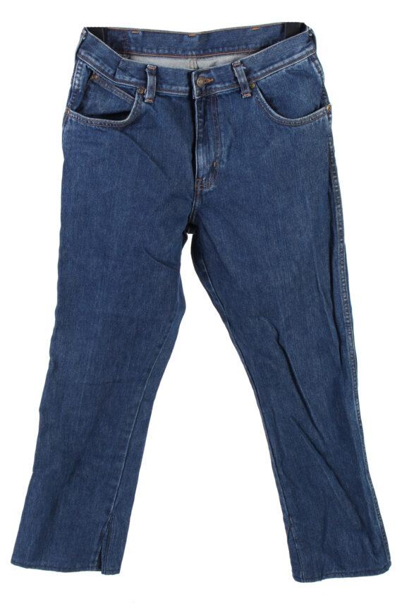 Vintage Wrangler Regular Fit Jeans Mid Waist Straight Leg 30 in. Dark Blue J4245-0