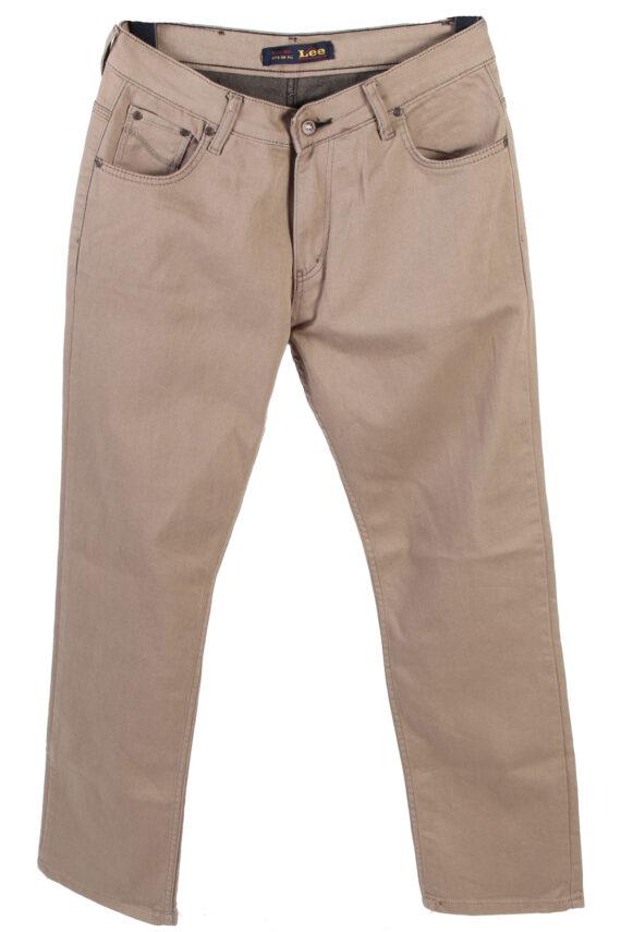 Vintage Lee Strech Mid Waist Jeans Straight Leg 30 in. Latte J4257-0