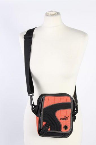 Vintage Puma Shoulder Messenger Bag Unisex Dark Grey/Orange