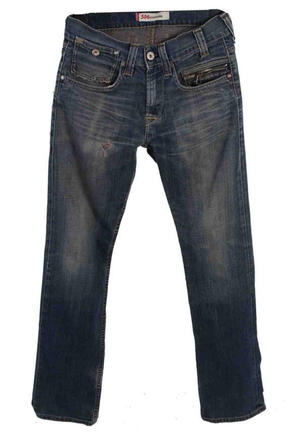 Vintage Mens Levis 506 Standart Jeans 30 in. Blue J4368-0