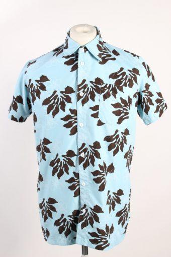 90s Crazy Print Shirt Short Sleeve Slim Fit Multi L