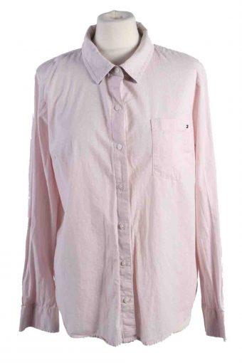 Tommy Hilfiger Women Shirts Cotton Long Sleeve Pink L
