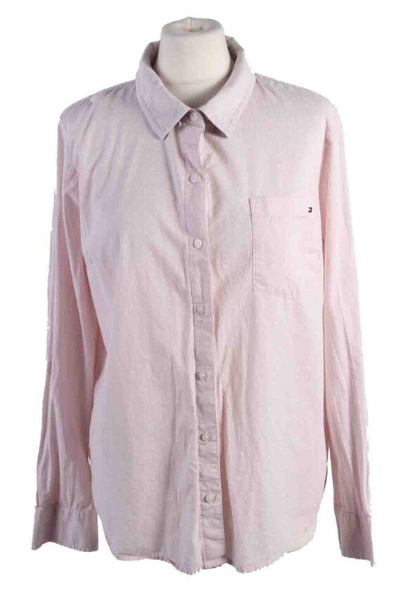 Vintage Tommy Hilfiger Cotton Long Sleeve Shirts L Light Pink SH3825-0