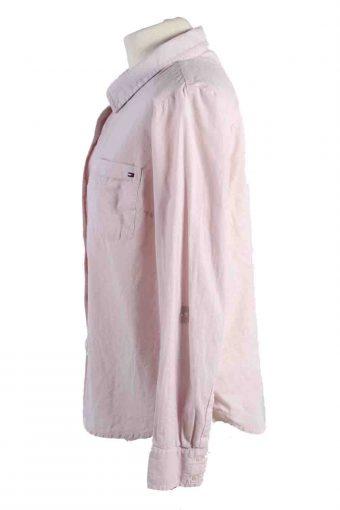Vintage Tommy Hilfiger Cotton Long Sleeve Shirts L Light Pink SH3825-114361