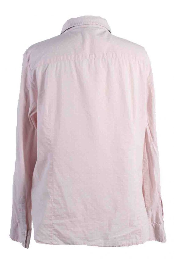 Vintage Tommy Hilfiger Cotton Long Sleeve Shirts L Light Pink SH3825-114362