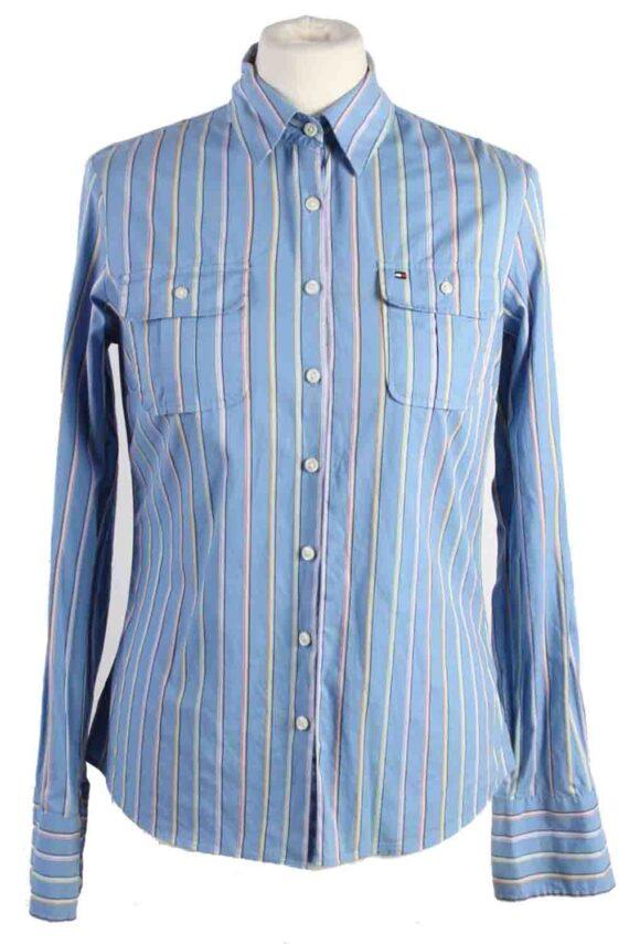 Vintage Tommy Hilfiger Strech Long Sleeve Shirts 6 Blue SH3827-0
