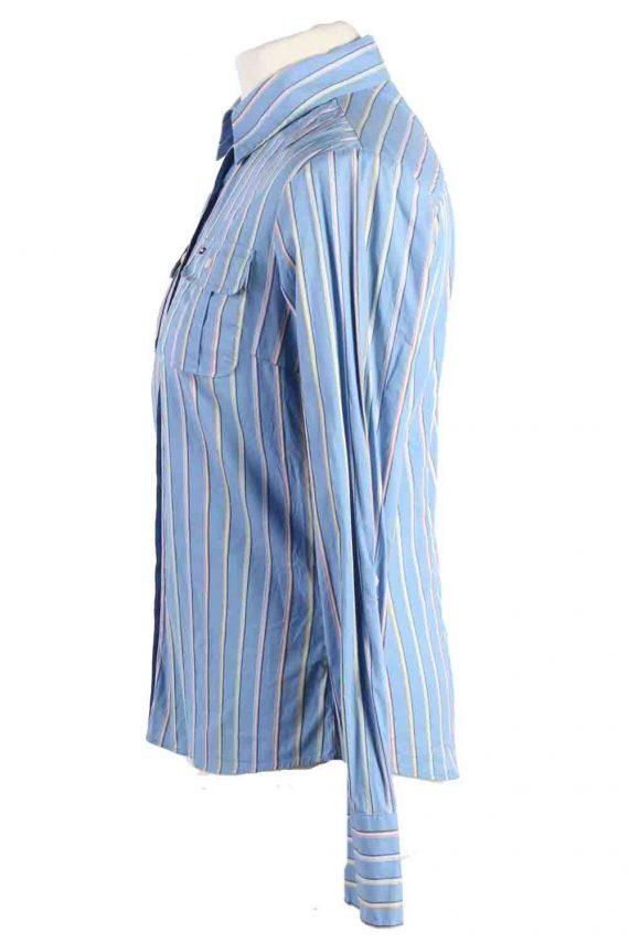 Vintage Tommy Hilfiger Strech Long Sleeve Shirts 6 Blue SH3827-114367