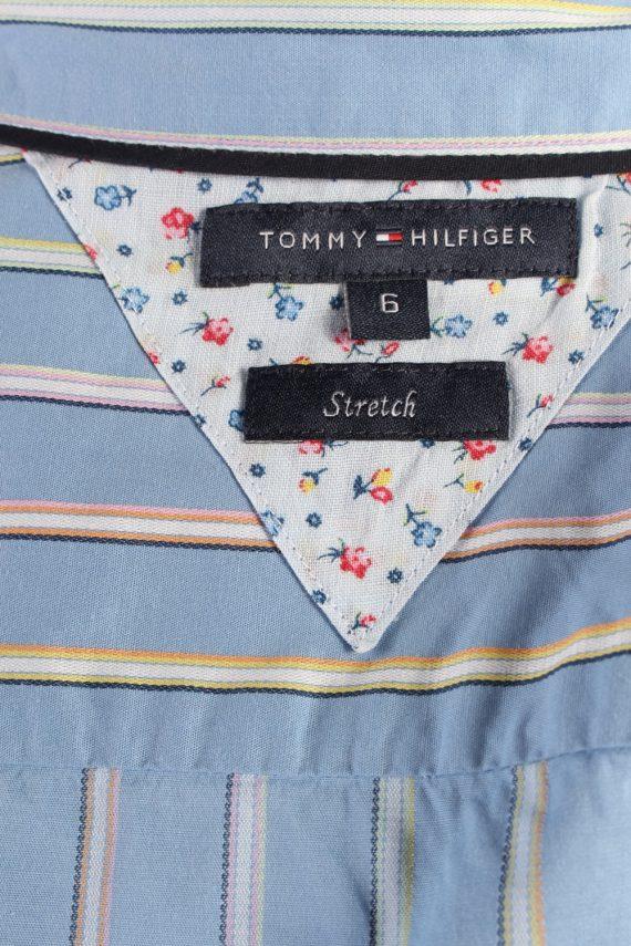 Vintage Tommy Hilfiger Strech Long Sleeve Shirts 6 Blue SH3827-114369