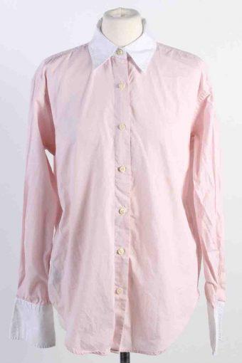Ralph Lauren Shirt Cotton Long Sleeve Women Pink L