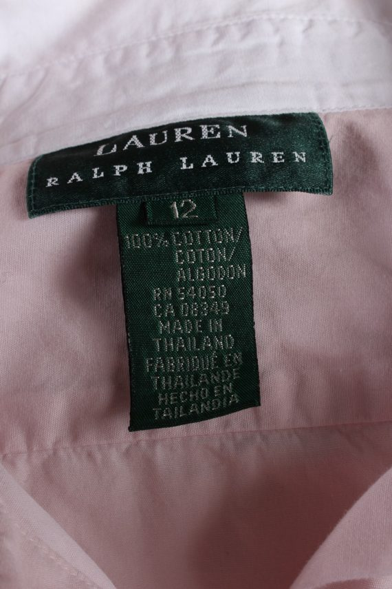 Vintage Ralp Lauren Cotton Long Sleeve Shirts 12 Pink SH3830-114378