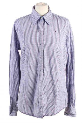90s Women Shirt Long Sleeve Blue XL