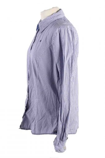 Vintage Gaastra Checkered Long Sleeve Shirts 2XL Blue SH3835-114391