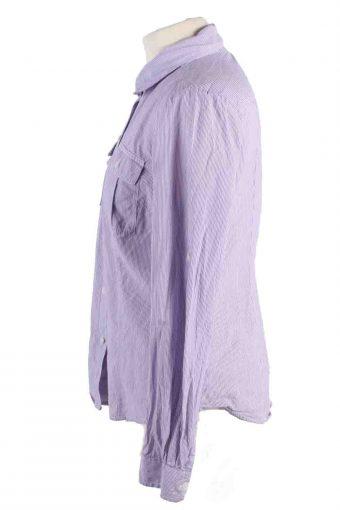 Vintage Calvin Klein Stripe Long Sleeve Shirts S Purple SH3838-114400