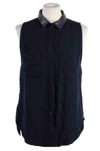 Abercrombie&Fitch Women Shirt Festival Sleeveles Navy M