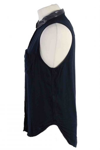 Vintage Abercrombie&Fitch Festival Sleeveless Shirts M Navy SH3842-114412