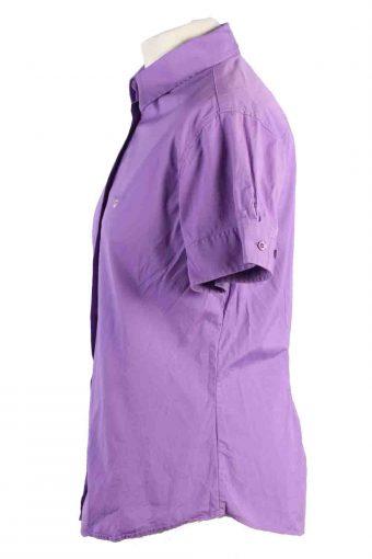 Vintage Gant Short Sleeve Shirts 16 Purple SH3844-114418