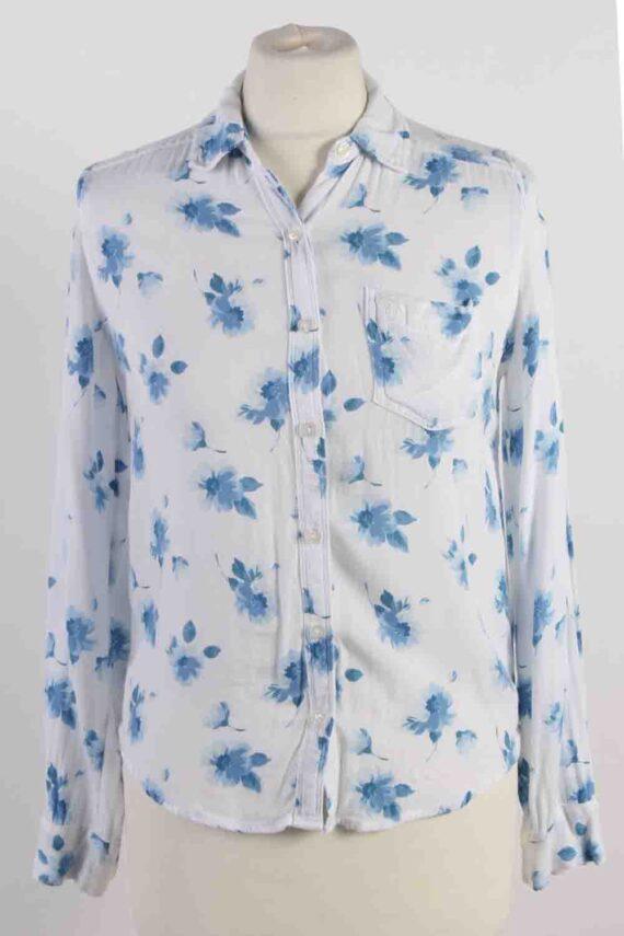 Vintage Abercrombie Kids Flower Printed Long Sleeve Shirts XS White SH3847-0