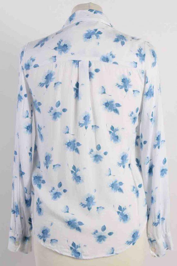 Vintage Abercrombie Kids Flower Printed Long Sleeve Shirts XS White SH3847-114428