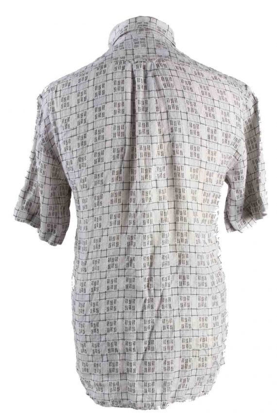 Vintage Mens 90`s Crazy Printed Casual Wear Short Sleeve Shirts S Beige SH3901-114761