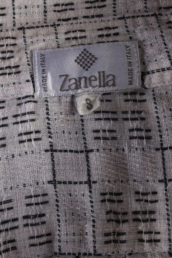 Vintage Mens 90`s Crazy Printed Casual Wear Short Sleeve Shirts S Beige SH3901-114762