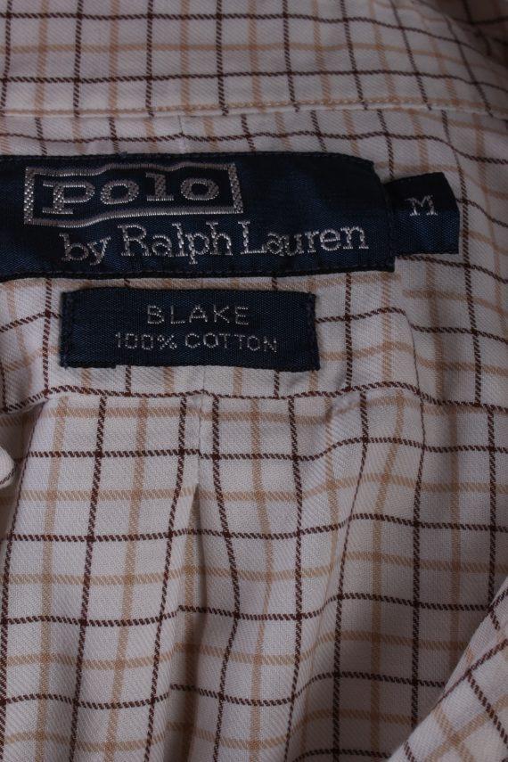 Vintage Mens Polo Ralp Lauren Blake Long Sleeve Shirts M Beige SH3850-114560