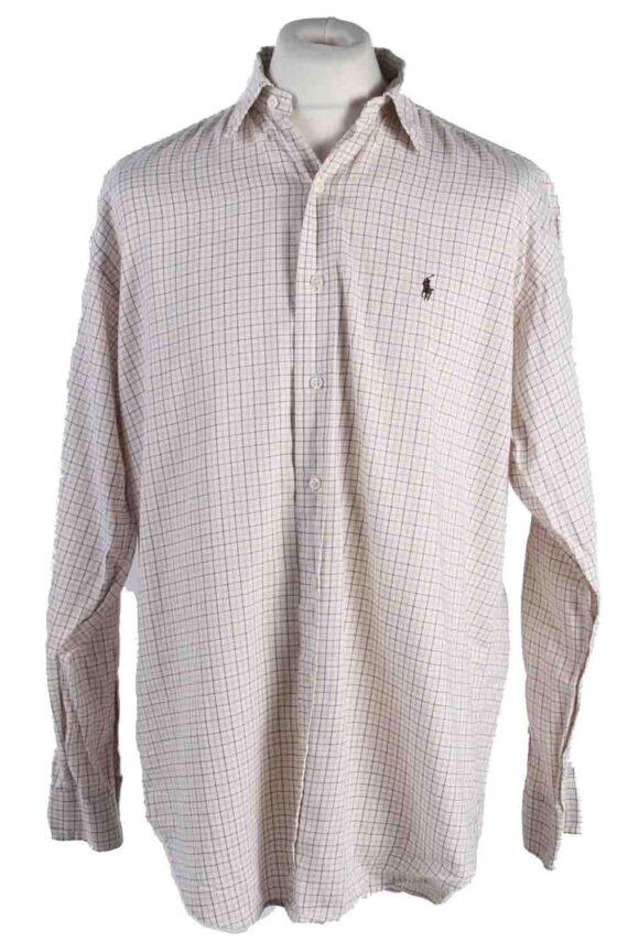 Vintage Mens Polo Ralp Lauren Blake Long Sleeve Shirts M Beige SH3850-0