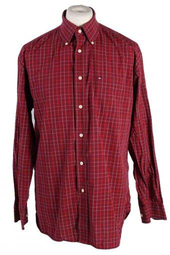 Mens Tommy Hilfiger Long Sleeve Shirts Maroon L