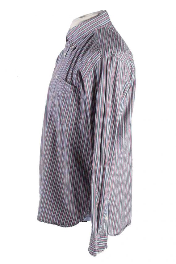 Vintage Mens Tommy Hilfiger Stripe Long Sleeve Shirts L Multi SH3861-114598