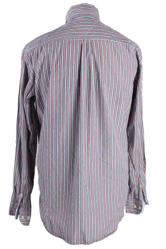 Vintage Mens Tommy Hilfiger Stripe Long Sleeve Shirts L Multi SH3861-114599