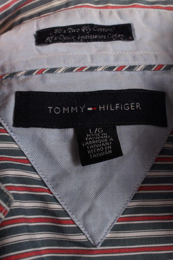Vintage Mens Tommy Hilfiger Stripe Long Sleeve Shirts L Multi SH3861-114600