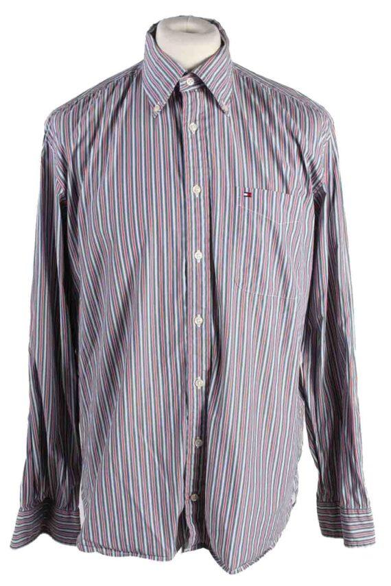 Vintage Mens Tommy Hilfiger Stripe Long Sleeve Shirts L Multi SH3861-0